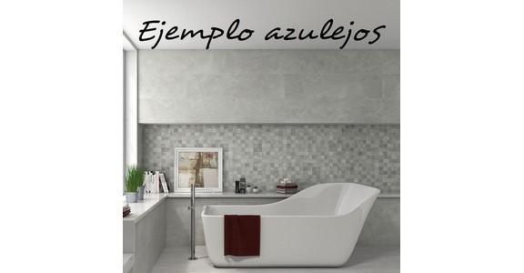 Azulejos Baño Ofertas:Azulejos cuadrados en tonalidades grises para la oferta de reforma de