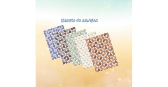 Muestra de azulejos en varios colores para la oferta de cambio de bañera por plato de ducha