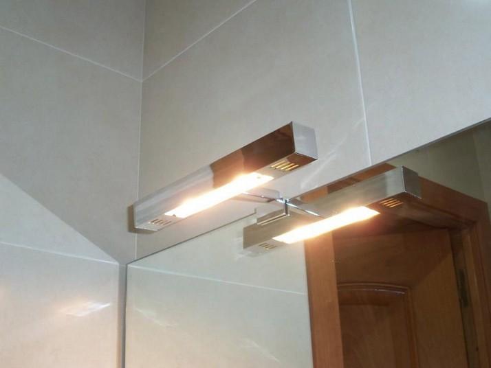 Apliques cuadrados para el baño