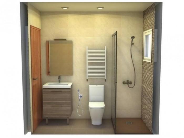 Proyecto en 3D del diseño y la distribución del baño