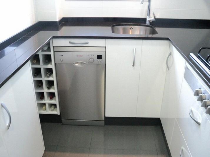 Cocina blanca y negra - Cocinas Franc